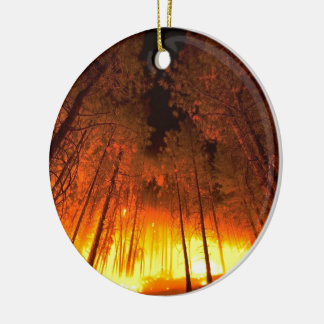 Forest Fire Christmas Ornament