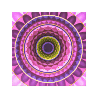 Forest flower mandala canvas print