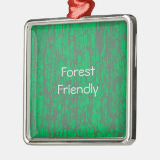 Forest friendly square ornament