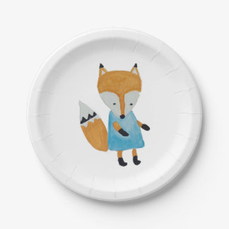 Forest Friends Adorable little Woodland Fox 7 Inch Paper Plate