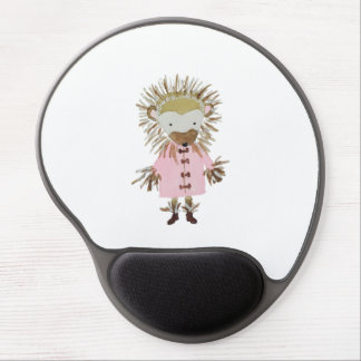 Forest Friends Cute Hand Painted Hedgehog Gel Mouse Pad