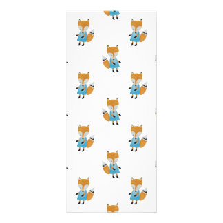 Forest Friends Fox All-Over Repeat Pattern Custom Rack Card