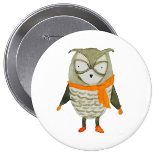 Forest Friends Owl 10 Cm Round Badge