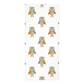 Forest Friends Owl All-Over Repeat Pattern Personalized Rack Card