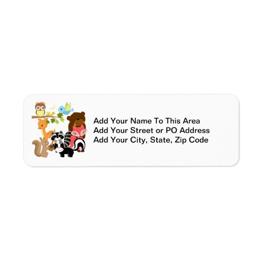Forest Friends Return Address Label