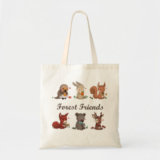 Forest friends tote bag