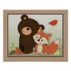 Forest Friends Wall Art - Bear