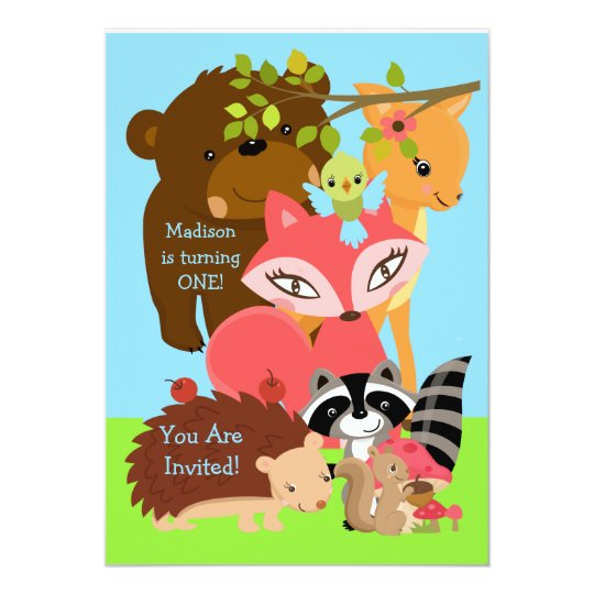 Forest Friends Woodland Custom Invitation