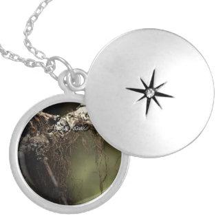 Forest Fuzz; Customizable Round Locket Necklace