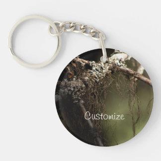 Forest Fuzz; Customizable Single-Sided Round Acrylic Key Ring