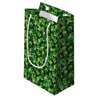 Forest geometric camouflage small gift bag
