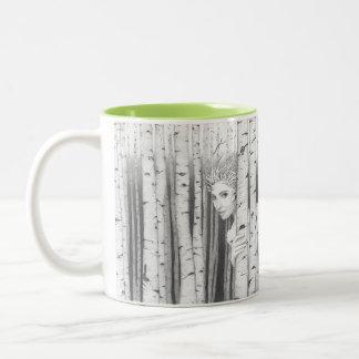 Forest Girl Saltus Puella happy thought coffee Coffee Mug