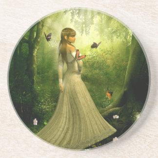 Forest Girl Sandstone Coaster