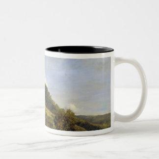 Forest Glade near a Village, 1833 Two-Tone Coffee Mug