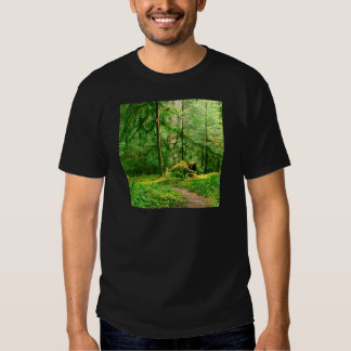 Forest Gray Wolf River Trail Olympic T-shirts