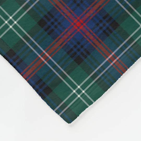 Forest Green and Dark Blue Sutherland Clan Tartan