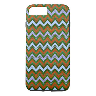 Forest Green Burnt Orange Aztec Chevron Stripes iPhone 8 Plus/7 Plus Case