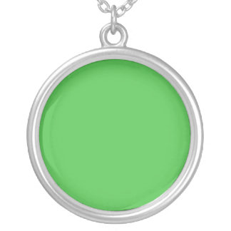 Forest Green Circle Necklace