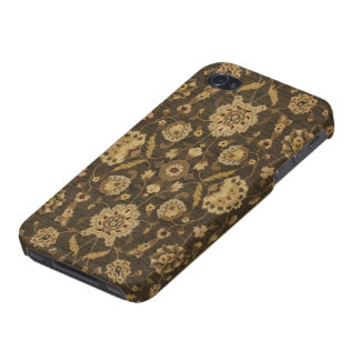 Forest green gold floral tapestry iPhone 4 cover