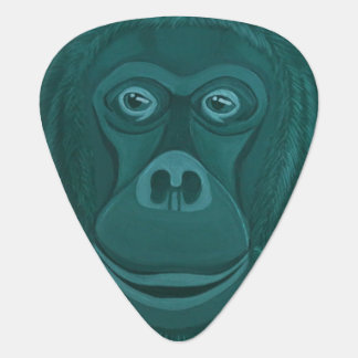 Forest Green Orangutan Guitar Pick
