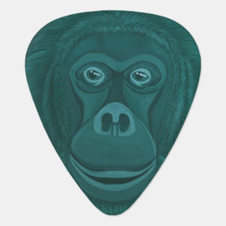 Forest Green Orangutan Guitar Pick (Dual Side)