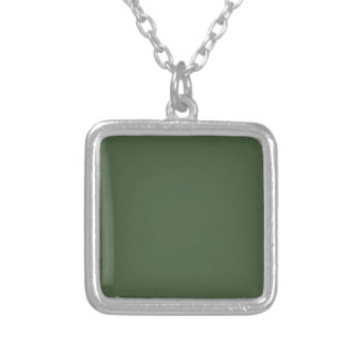 Forest Green Solid Color Necklace