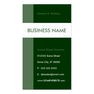forest green streamline business card