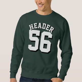 Forest Green & White Adults | Sports Jersey Design Pullover Sweatshirt