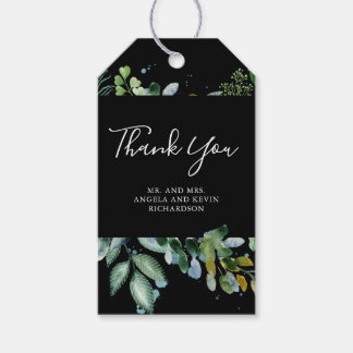 Forest Greenery Wedding Gift Tags