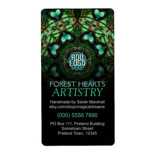 Forest Hearts Art Label