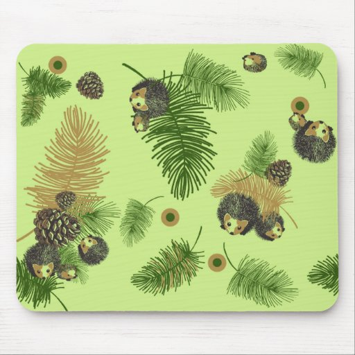 Forest Hedgehogs Mouse Mat Mousepad