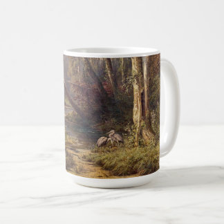 Forest Heron Birds Wildlife Stream Meadow Mug
