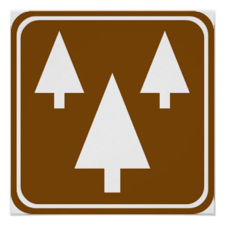 Forest Highway Sign Poster