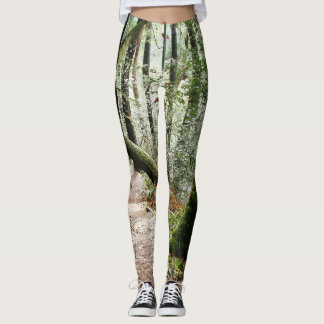Forest Hiking Trail All Over Print Leggings