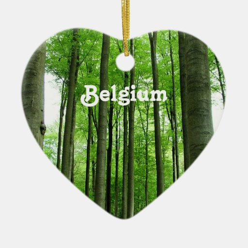 Forest in Belgium Christmas Tree Ornament