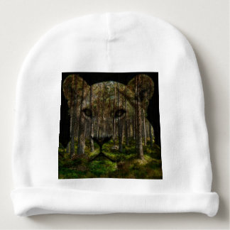 Forest inside a tiger baby beanie