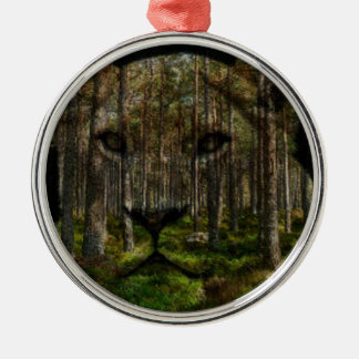 Forest inside a tiger christmas ornament