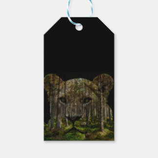 Forest inside a tiger gift tags