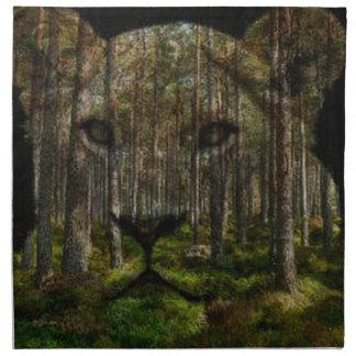 Forest inside a tiger napkin