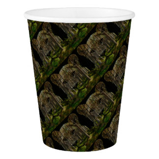 Forest inside a tiger paper cup