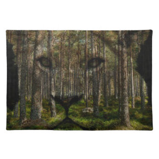 Forest inside a tiger placemat