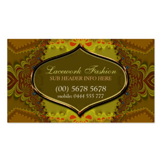 Forest Lace Fashion Elegant Business Card