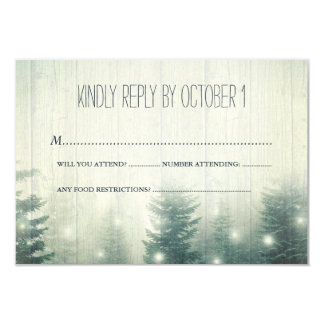 Forest Lights | Rustic Wedding | RSVP Card