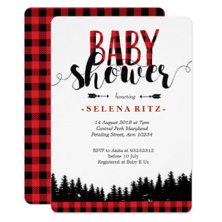 Forest Lumberjack Baby Shower Invitation