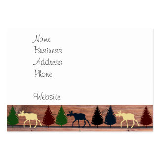 Forest Moose Wolf Wilderness Mountain Cabin Rustic Pack Of Chubby Business Cards