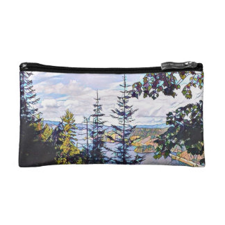 Forest Mosaic Makeup Bag