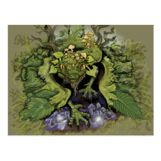 Forest Moss Magic Dragon Postcard