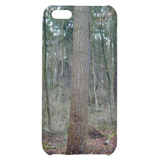 Forest mossy ground and tree trunks iPhone 5C cover