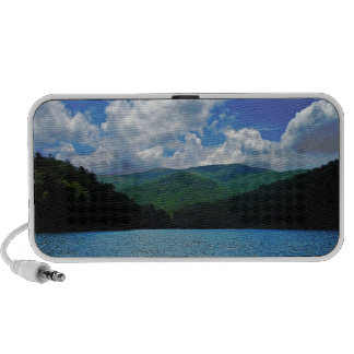 Forest Mountain Clouds Over A Lake Photo iPhone Speaker