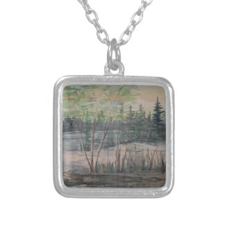 Forest Mysteries Revealed Square Pendant Necklace